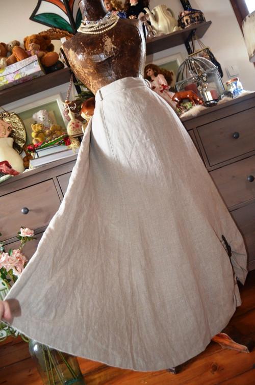 !!! Dobová lněná skvělá sukně vel. 50 !!!