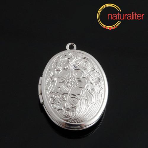 Otevírací medailon 23x16mm stříbrná barva