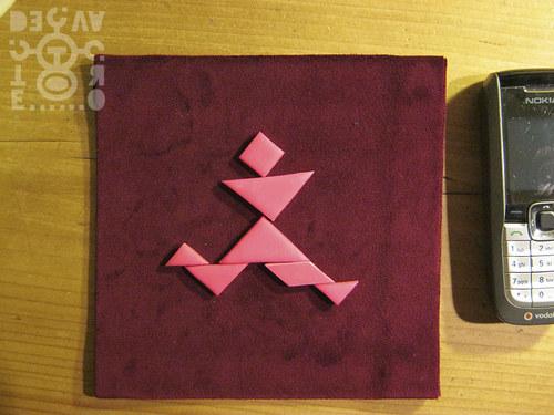 Podložka pod tangram (červená)