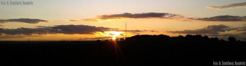 Západ slunce - panorama