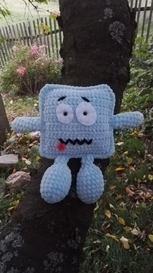 Pískací příšerka - modrá