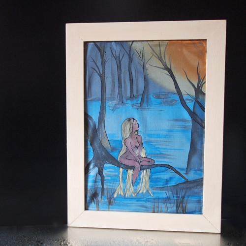 Víla Jizerských hor - obrázek malovaný na hedvábí