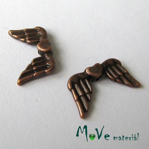 Mezikus kovový 18,5x11,5mm křídla, 2ks, staroměď