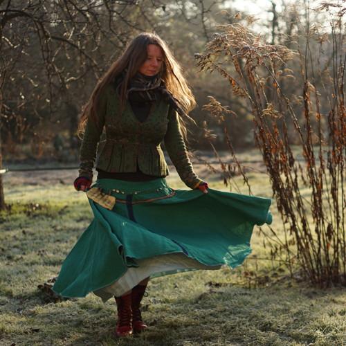 Královna lesních víl ...lněná maxi sukně, vel M