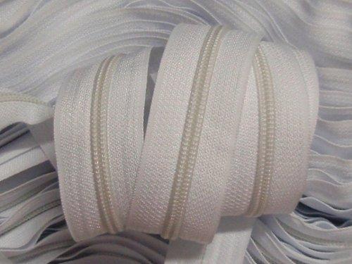 19108-B01-10 Zipová páska #5mm BÍLÁ, balení 10m