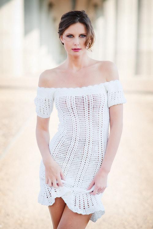 Popis - návod na háčkované šaty Romantic Girl