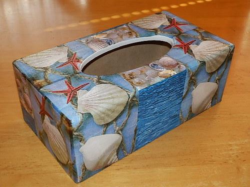 Krabička na kapesníky Mušle