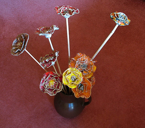 Keramická květina