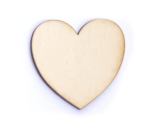 Srdce ze dřeva (obrys) - šíře 5 cm