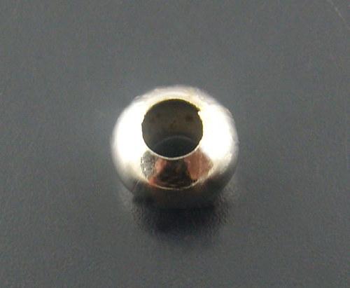 kovový korálek/ platina/ 6mm/ 15ks