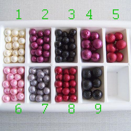 vroubkované voskové perly/ růžová č.6/ 8mm/ 10ks