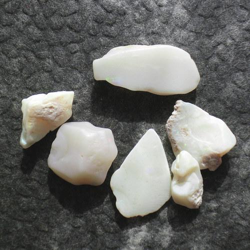 Bílý opál - 6 ks
