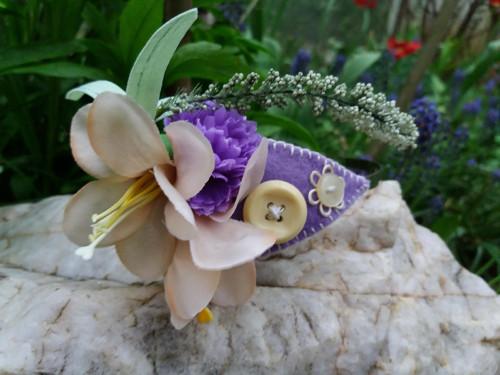 Květinová čelenka-fialová