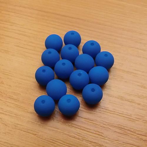 Neonové kuličky 4mm - modré