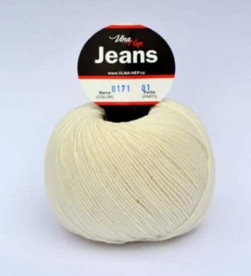 Jeans smetanová 8171