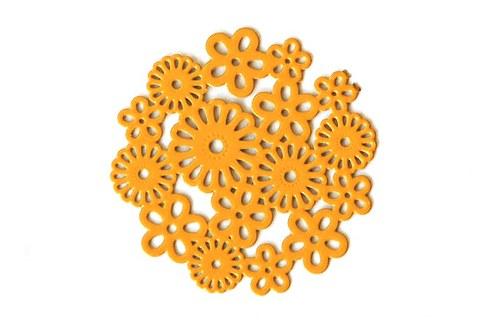Měděné kolečko - žluté květy