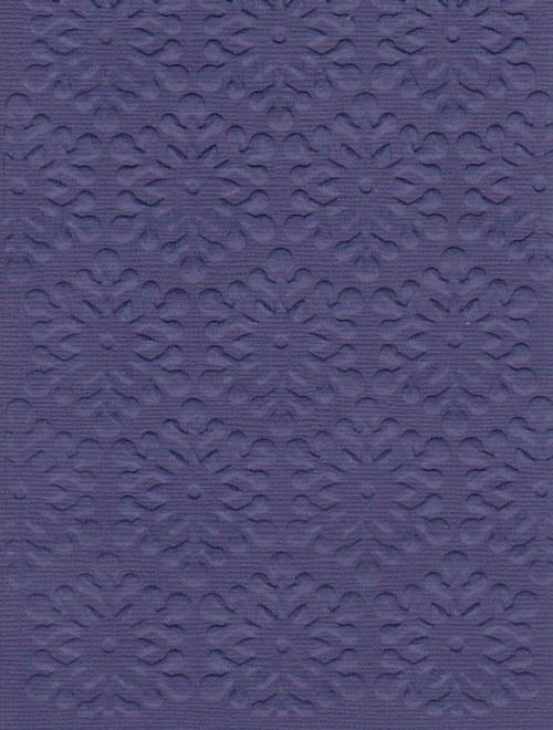 Embosovaná čtvrtka A6 - vločky tm. modré