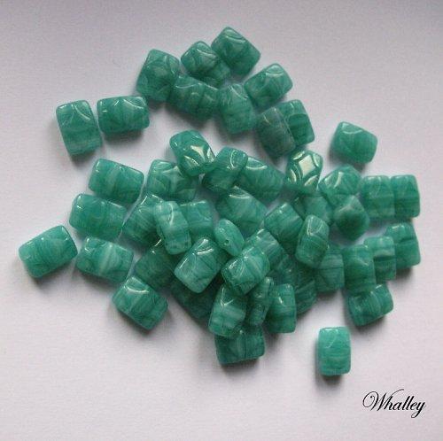 Zelenomodré korálky 50ks
