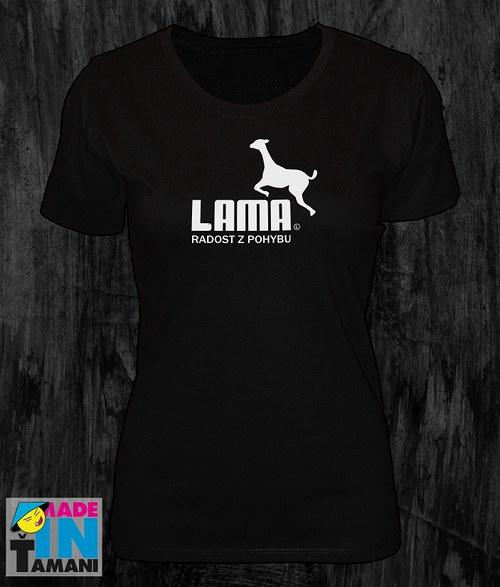 Dámské černé tričko s Lamou