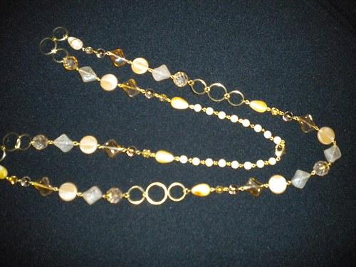 náhrdelník řetěz se skleněnými komponenty