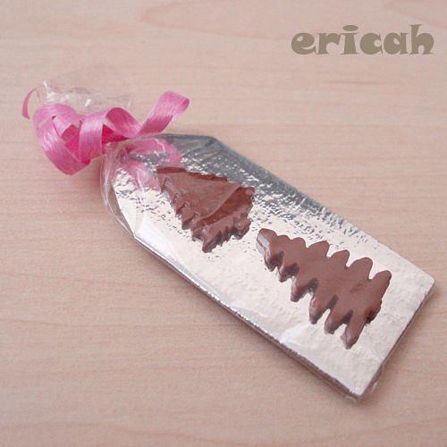 Čokoládové stromky v sáčku hnědé