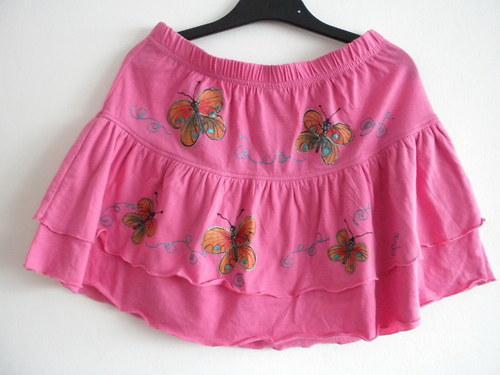 Sukně Barevní motýlci pro slečny