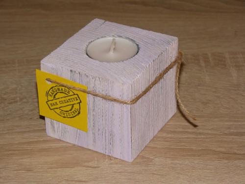 1 dílný svícen Provance fialový 7 cm - 1 ks