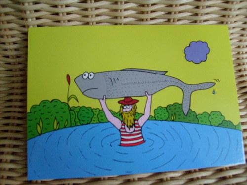 Pohlednice-Rybář