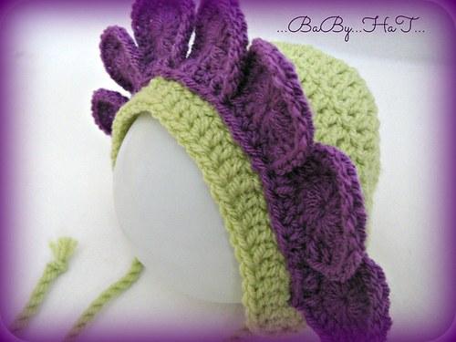 SLEVA!!! čepička Slunečnice fialová