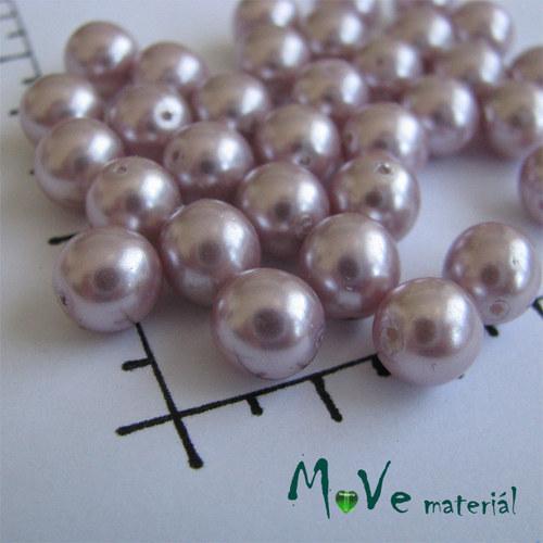 České voskové perle starorůžové 8mm,20g(cca32ks)
