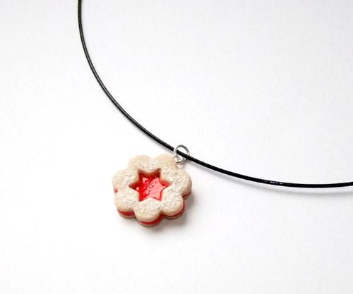 Linecké cukroví - náhrdelník