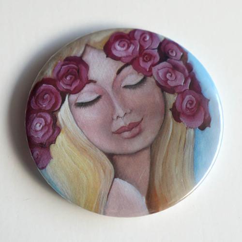 S růží ve vlasech - magnet