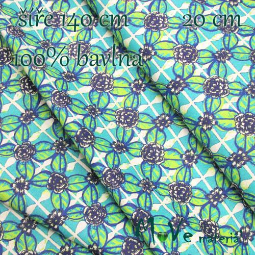 Bavlněné plátno - kaleidoskop 20cm/ š 140cm