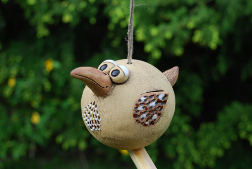 Keramický ptáček na zavěšení