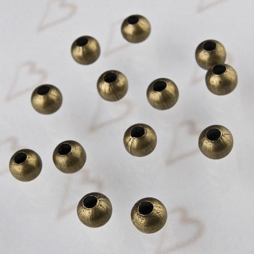 KKO281, KORÁLKY Guličky,10mm BRONZ /2ks