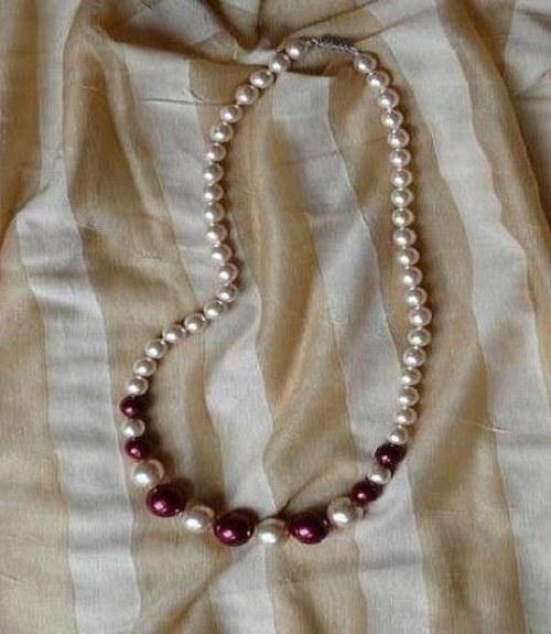 náhrdelník  - vínové perle