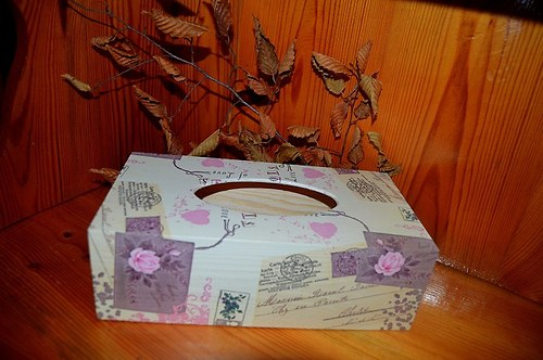 Krabička na kapesníky - dopis z lásky
