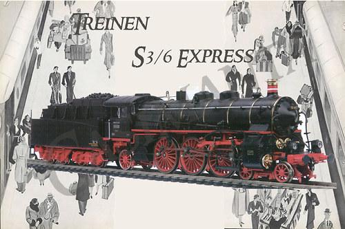 Lokomotiva - Express - vintage motiv