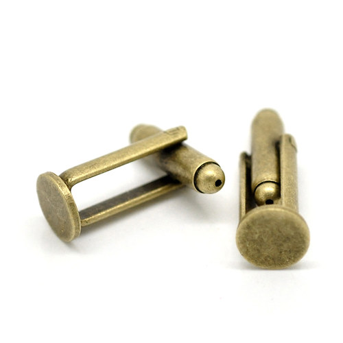 ZAP3728, Manžetové gombíky 8mm StaroBRONZ /1ks