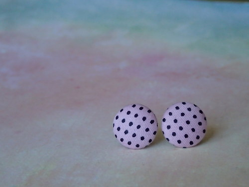 Dotty Buttons (Pink-Black)