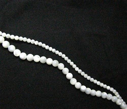 Perleťové kuličky 6 mm, 6 ks
