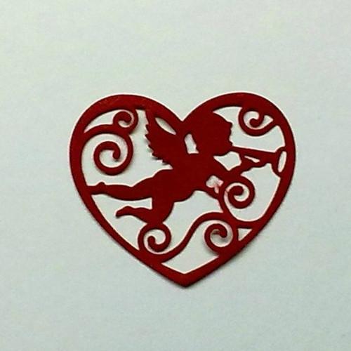 Anděl ve filigránovém srdci  (filc-plsť)