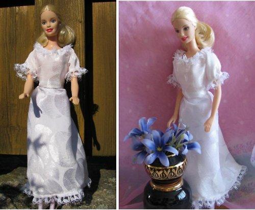 Barbie - šaty bílé