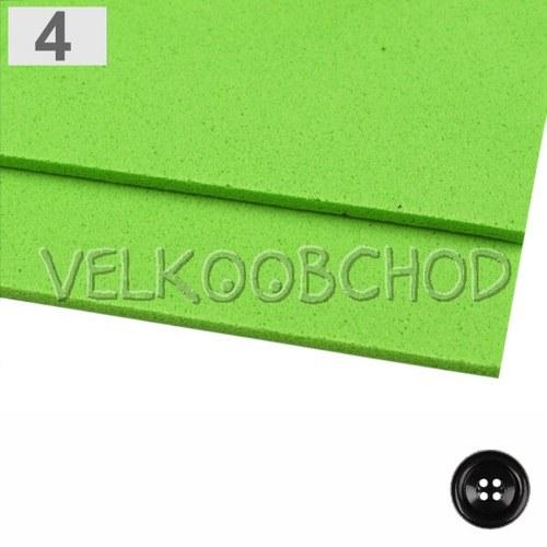 Pěnová guma Moosgummi 20x30cm - zelená sv.