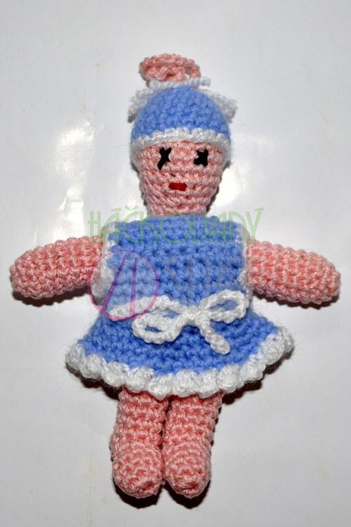 Moje první panenka - modré šatičky