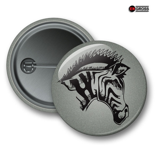 Reflexní připínací odznak - Zebra