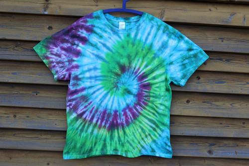 MAGICKÁ SPIRÁLA - batikované tričko š. 2x 63 cm