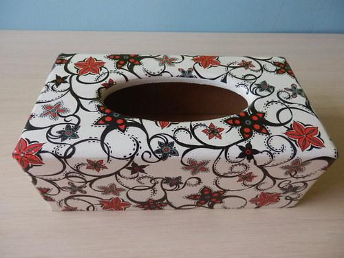 Krabička na kapesníky Vzory na bílé