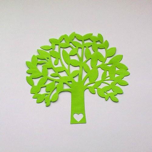 Výsek - Listnatý strom se srdíčkem