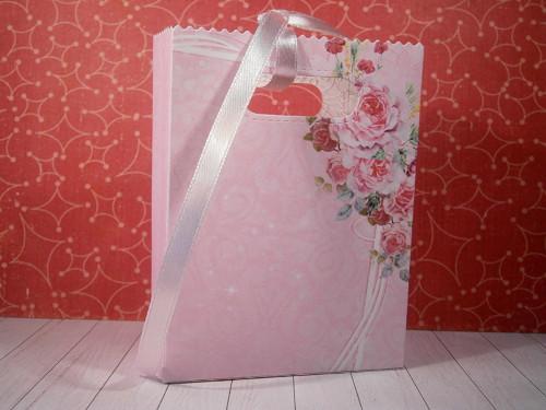 Dárková taštička ( růžová pnoucí květina)